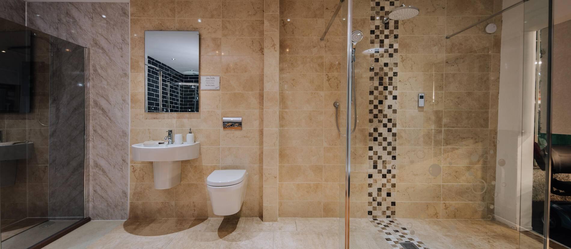 floor level luxury wet room