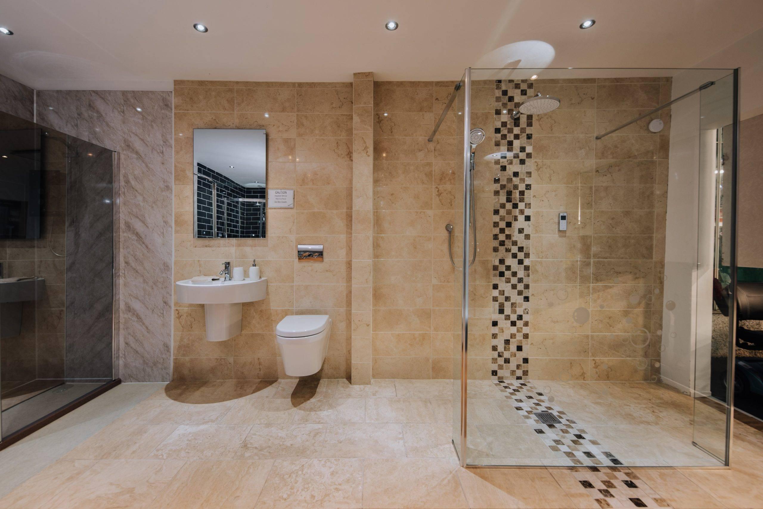 easy access modern luxury shower