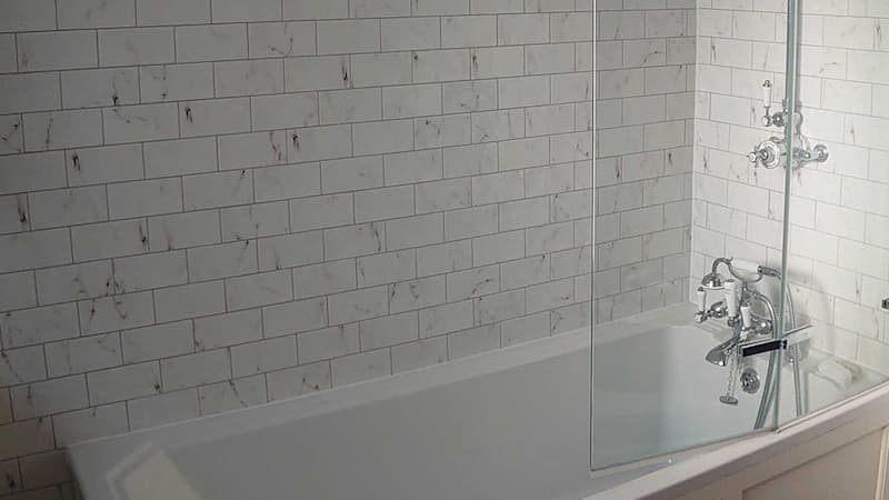 tiled bath fitting before