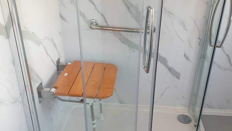 wooden foldable shower seat shower cubicle assisted handles