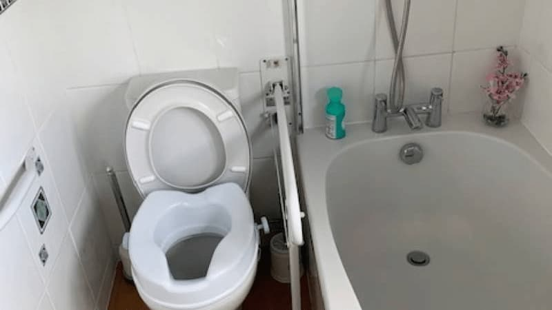 STIFF assisted toilet with handle